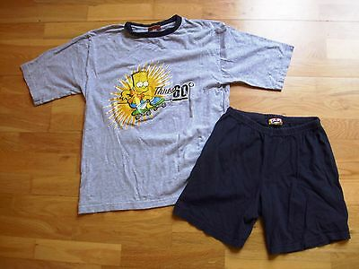 "Boys BART SIMPSON pyjamas size 31-32"" fit age 11 approx THE sIMPSONS"