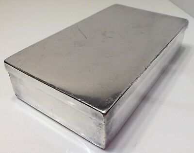 Vintage Silver Plate Bible Book Case Hallmarked And Marked Yates