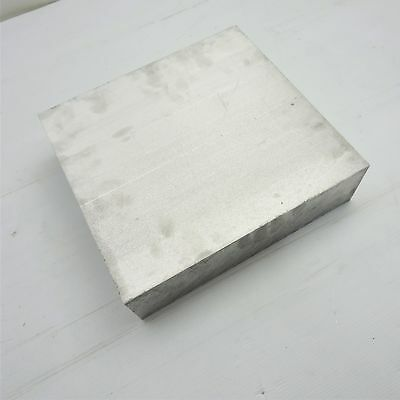 """3"""" thick 6061 Aluminum PLATE  7.5"""" x 8.25"""" Long Solid Flat Stock sku 174225"""