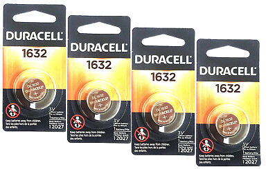 4 Pcs Fresh Duracell Lithium Battery ECR1632 CR1632 DL 1632 3V Batteries