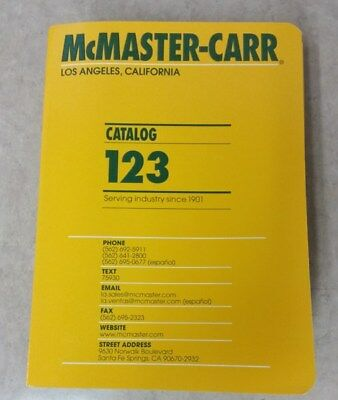 MCMASTER CARR Industrial Supply 2017 CATALOG No. 123 Mc Master Carr - Free Ship