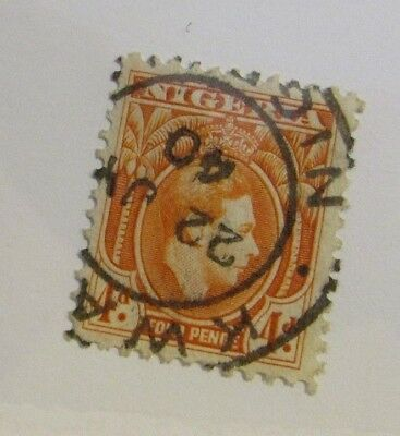 NIGERIA Sc# 59 Θ used, Four Pence, cds 1940 cancel, postage stamp