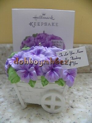 Hallmark 2014 Pansies Stand for Thoughts Spring Ornament