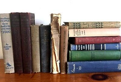 Lot of 10 Old Vintage Books Collection Set Hardcover Specialty Orders Welcome