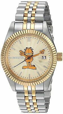 Invicta 24877 Character Collection Women's 36mm Two-Tone Steel Gold Dial Watch