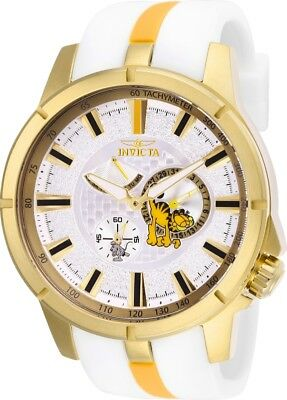 Invicta 25136 Character Collection Men's 49mm Gold-Tone Steel White Dial Watch