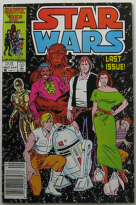 Star Wars #107 (Sep 1986, Marvel), NM, last issue of series, low distribution