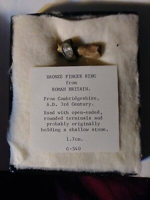 Authentic museum quality Roman Bronze Ring from Roman Britain AD 3rd century