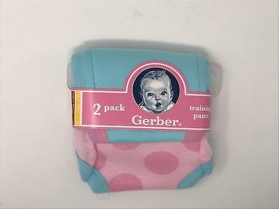 Gerber Training Pants 2 pack 18 mo Girls 100% Cotton NIP