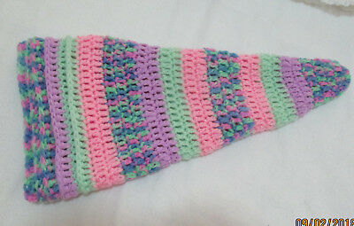 Hand Made Crochet Pixie Beanie Hat> Suit To 6 / 9 Mths>Pretty Stripes