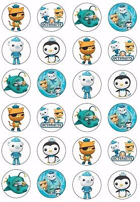 OCTONAUTS Wafer Rice Paper Cupcake Toppers EDIBLE KIDS CAKE DECORATIONS