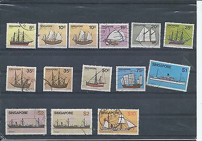 Singapore stamps. 1980 - 1984 Ships various values to $10 used. (Y068)