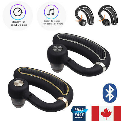 Bluetooth Wireless Headset Handsfree Stereo Earphone For iPhone Samsung Android