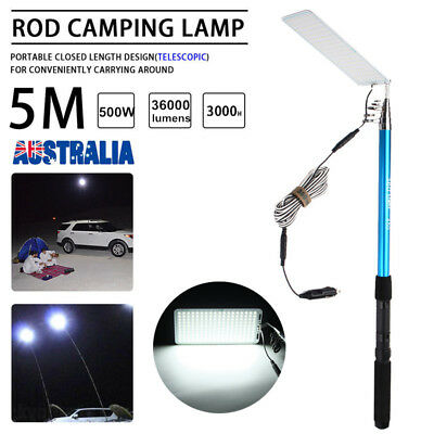 AU 5M Portable Telescopic Fishing Rod Camping Lamp Light Car Repair LED Lantern
