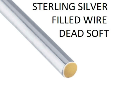 925 Sterling Silver Filled Wire Dead Soft 1/10 Plated  Jewellery Wire Wrapping
