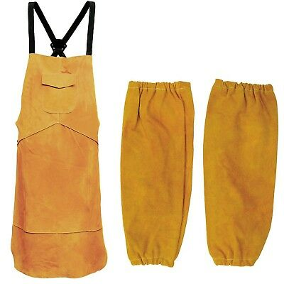 Portwest Flame Resistant Leather Welding Welders Apron Sleeves Safety Protective