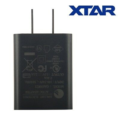 New XTAR USB Power Port 2100mA 2.1A US Plug Wall Adapter Charger (VC2 Plus, VC4)