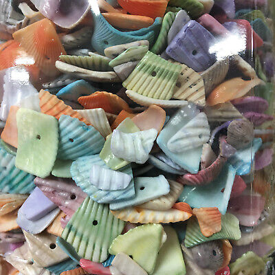 Coloured Shell Pieces x 100g - Beads/Decoration/Parties/Wedding/Papercraft