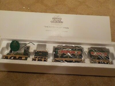 "Department 56 Heritage Village Collection ""The Flying Scot Train"" #5573-5 - 4 pc"