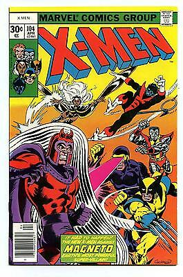 Uncanny X-Men #104 - 1st Brief app Starjammers - Magneto - Marvel 1977 VFN+