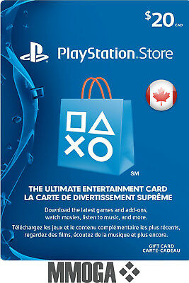 $20 CAD PlayStation Network Store Card - PSN 20 CAD Prepaid Code - For CA Only