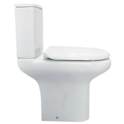 Bathroom & Cloakroom Toilet Pan Close Coupled Cistern Compact with WC Seat