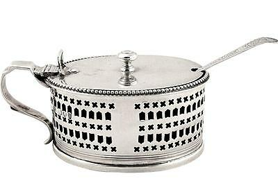Antique Victorian Sterling Silver Mustard & Liner - 1895
