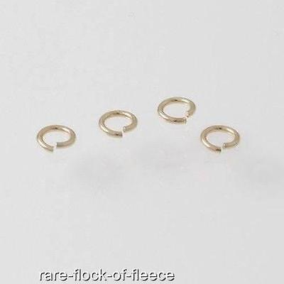 5 NEW 9ct YELLOW GOLD 3mm OPEN JUMP RINGS FOR JEWELLERY MAKING/ REPAIRS G1