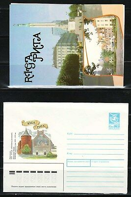 "Latvia - 1989 ""Riga"" Postal Stationary (Cover + Card)"