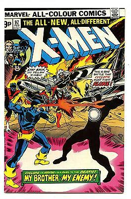 Uncanny X-Men #97 - UK Price Variant - Marvel 1976 VFN-