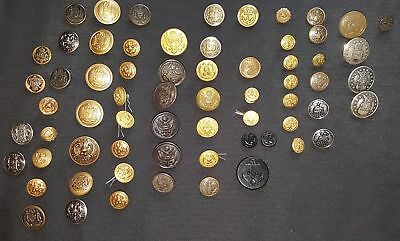 Large Mixed Lot of Military Buttons
