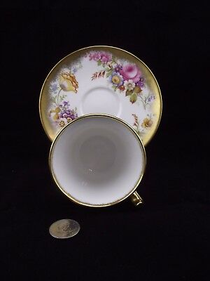 Heavy Gold Floral Royal Chelsea Cabinet Tea Cup And Saucer 5007A