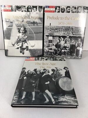 Lot Of 3 Our American Century Books History 20s 50s 1870-1900 Time Life Books