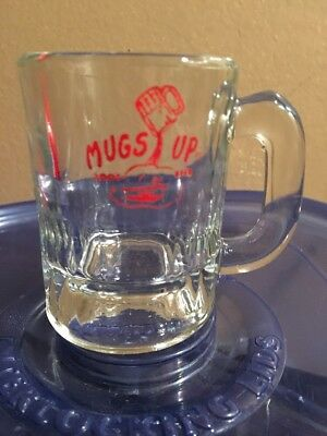 Vintage Mugs Up Root Beer Mug Small Size Heavy Glass
