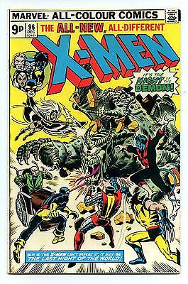 Uncanny X-Men #96 - 1st App Moira MacTaggart - UK Price Variant Marvel 1975 FN+