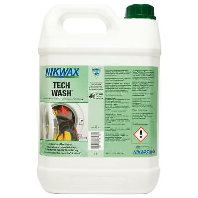 New Nikwax Tech Wash 5 Litre Fabric Washing Treatment Cleaning