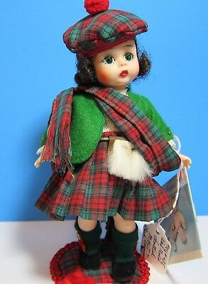 Scottish Bent Knee, Mint in Box, with Custom Made Stand - Radient Coloring - !!!