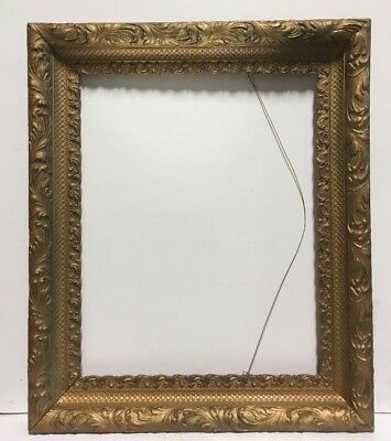 "Antique Aesthetic Eastlake Victorian Wood Ornate Picture Frame Fits 16""x20"""