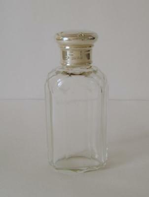 A Vintage Sterling Silver Lidded Cut Glass Scent Bottle London 1921