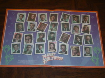 Vintage 1995 Planet Hollywood Placemat - in Excellent Condition!