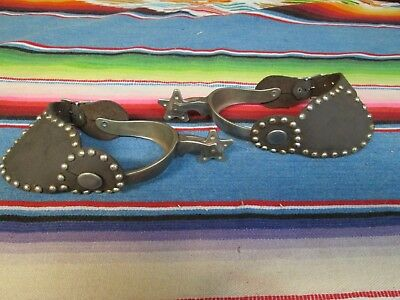 Antique / Vintage Spurs With Leather Straps In Used Condition