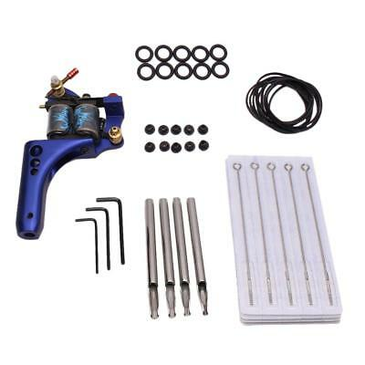 Complete Tattoo Blue Machine Needle Nozzle Bands Grommets Supply Kit Set