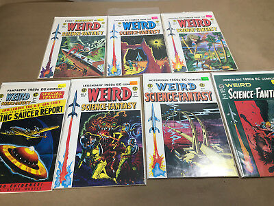Lot of 7 EC Re-prints  WEIRD SCIENCE-FANTASY  1-7 issues 1 2 3 4 5 6 7