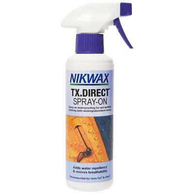 New Nikwax Tx Direct Spray 300Ml Fabric Washing Treatment Cleaning