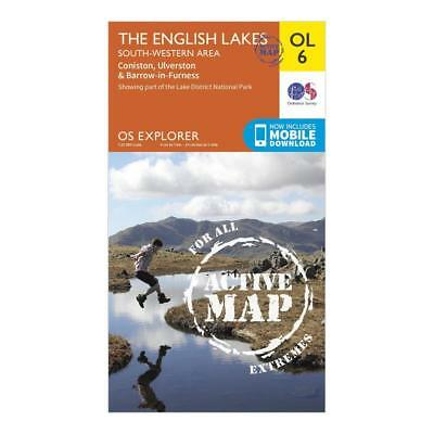New OS Explorer Active OL6 The English Lakes South Western Area Map