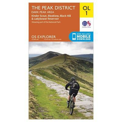 New Os Explorer Ol1 The Peak District Peak Area Walking Hiking Guide