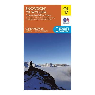 New Os Explorer Ol17 Snowdon Conwy Valley Map Walking Hiking Guide