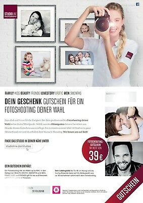 Studioline Photography Fotoshooting Gutschein 39 Euro, z.B. Beauty, Lovestory,..