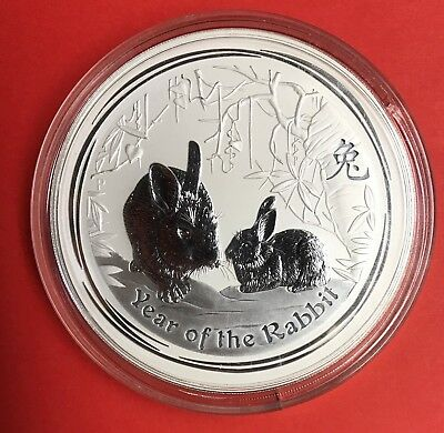 2011 Australia Year of the Rabbit Kilo 32.15oz .999 Fine Silver