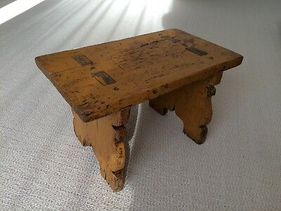 A Small Rustic Alpine Stool.